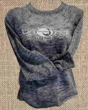 Grey Burnout Long Sleeve Shirt
