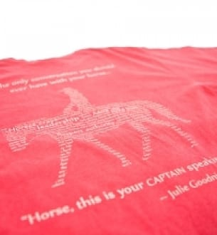 Horse Master/Captain Speaking T Shirt – Coral