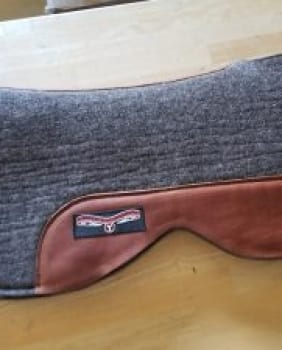 Monarch Saddle Pad #0066 17″ seat, Regular Oil Leather – Call for Best Price!